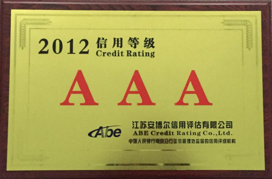 2012 credit rating